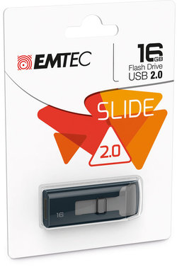 EMTEC 16GB USB SLIDE FLASH DRIVE