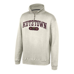 Top of the World Maroon Felt Quarter Zip
