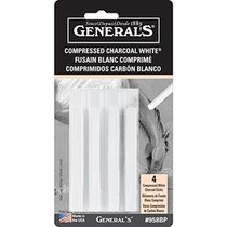 WHITE COMPRESSED CHARCOAL 4PAK GENERALS