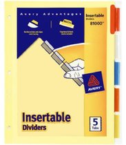 Divider With Index Tabs 5 Count