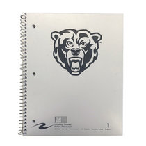 Bearhead Notebook 1 Subject White