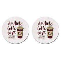 Latte Thirsty Car Coasters 2-Pack