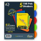Dividers, 5 Tab Poly