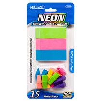 Eraser Caps Neon 15 Pak