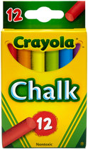 CHALK COLORED 12PAK CRAYOLA