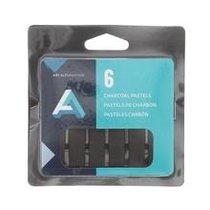 Charcoal Drawing Sticks 6pak Compressed