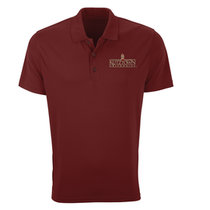 Short Sleeve Moisture Wicking Polo with Clock Tower