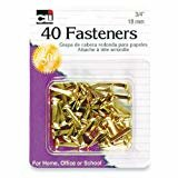 Brass Fasteners 40 count