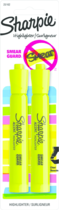 HIGHLIGHTER SHARPIE ACCENT YELLOW 2 COUNT