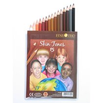 FINETEC 15 COLOR SKIN TONE COLORED PENCILS