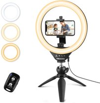 10inch Selfie Ring Light With Tripod & Cell Phone Holder