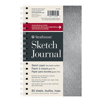 Metallic Wirebound Sketch Journal 50lb 80 Sheet 200 Series