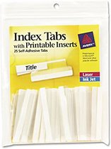 INDEX TABS CLEAR SELF ADHESIVE