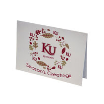 HOLIDAY GREETING CARD KU WREATH