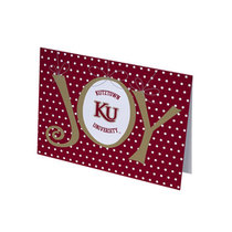 HOLIDAY GREETING CARD KU JOY POLKA DOTS