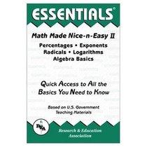 ESSENTIALS: MATH MADE NIC-N-EASY II