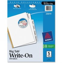Divider Write On Big Tab 5 Count