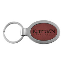 LXG Velour Metal Oval Key Chain