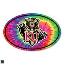 "6"" Euro Rainbow Tie Dye Background Vinyl Decal"