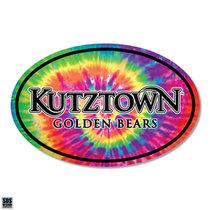 """6"""" Kutztown Golden Bears Tie Dye Magnet"""