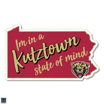 "6"" Kutztown State of MInd Vinyl Decal"