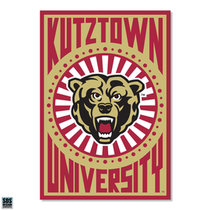 "3"" Kutztown University Pop Art Vinyl Decal"