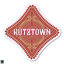 "3"" Boho Diamond with Kutztown Vinyl Decal"