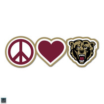 Peace Love Bear Rectangle Magnet