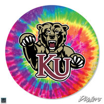 "2"" SCARY BEAR WITH KU TIE DYE DIZZLER"