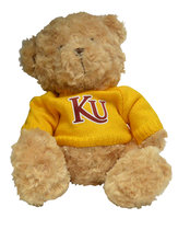 ELLIOTT BEAR WITH SWEATER AND TACKLE TWILL KU LOGO