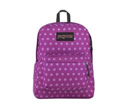 Backpack Black Label SuperBreak Purple Plum Polka Dot