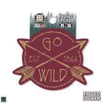 Rugged Sticker Go Wild
