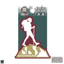 Rugged Sticker Hiker