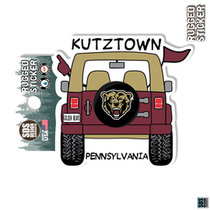 Rugged Sticker Jeep Bearhead tire cover