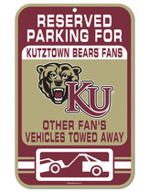 "11""X17"" Kutztown Reserved Parking Street Sign"