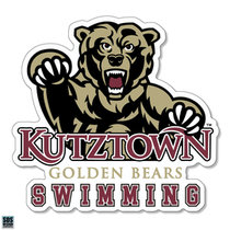 Golden Bears Swimming Sports Decal