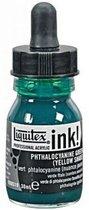 ACRYLIC INK PHTHALO GREEN YELLOW SHADE 30ML LIQUITEX