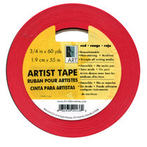 "ARTIST TAPE RED 3/4"" X 60YARD"