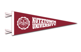 Collegiate Pacific 6x15 pennant wtih Seal and Kutztown University