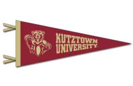 Collegiate Pacific 9x24 Pennant with Bearhead and Kutztown University