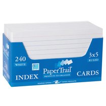 Index Cards 3x5 Ruled 240 Count