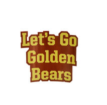 MULTI USE DECALS LETS GO GOLDEN BEARS
