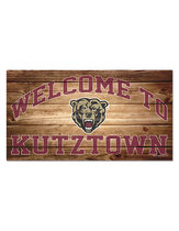 "WinCraft 13""X24"" Welcome to Kutztown Wood Sign"