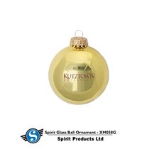 Glossy Gold Holiday Ornament Kutztown University
