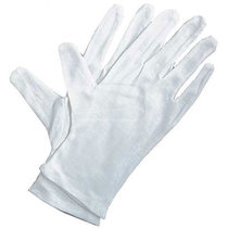 Gloves Soft White Cotton 4pak
