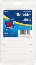 "FILE FOLDER LABELS 9/16""X2 3/4"" 154 COUNT"