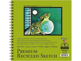Premium Recycled Sketch Pad 70lb 50 Sheet