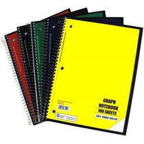 GRAPH PAPER NOTEBOOK 4X4 PER INCH 100 SHEETS