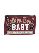 Baby Burp Cloth Eat Drink Milk Golden Bears Repeat