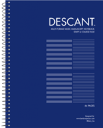 Descant Music Staff And College Rule Notebook